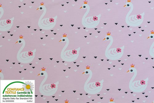 Jersey swan princess - coupon de 1 m