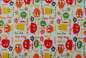 Minky ooga booga orange - par 50 cm