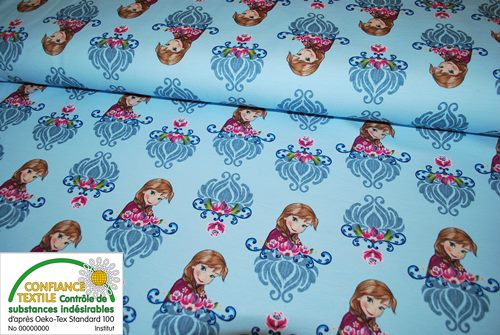 "Sweat bouclette Frozen ""Reine des neiges""  - coupon de 43 cm"